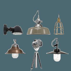 Binnenverlichting - Retro vintage wandlampen en hanglampen